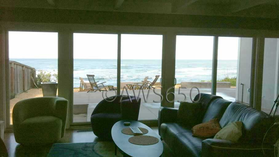 Andersen Permashield Patio Doors installed on the ocean in Moss Beach,Ca
