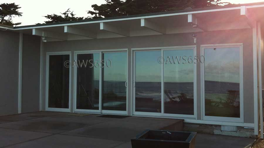 Moss Beach Andersen Patio doors on ocean