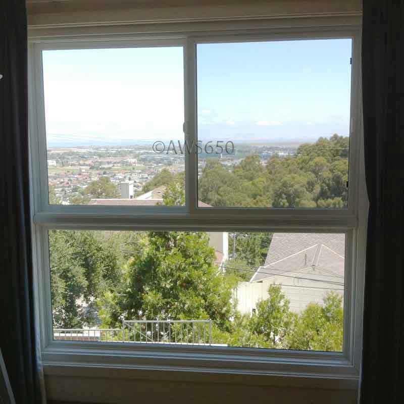Milgard Fiberglass stacked Replacement window