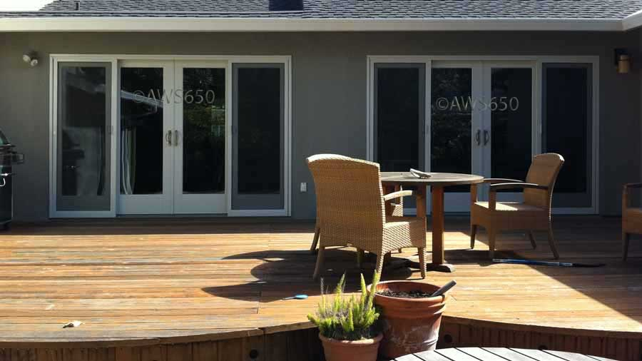 Andersen Patio Doors on deck