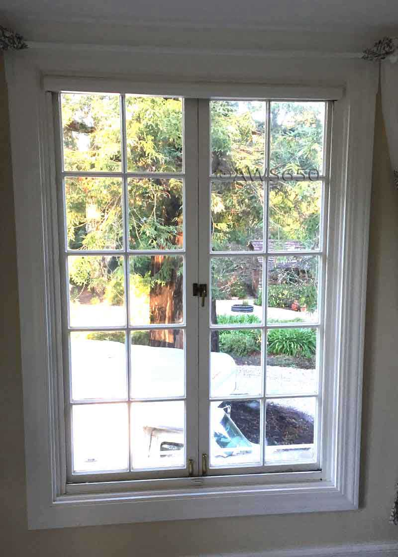 Replacement windows before and after photos for Andersen casement window screens